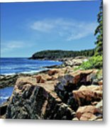 Coastline And Otter Cliff 1 Metal Print