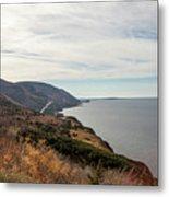 Coastline At Cape Breton Highlands National Park, Nova Scotia, C Metal Print
