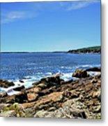 Coastline At Otter Point 5 Metal Print