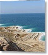 Coastline In The Desert Metal Print