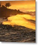 Coastline Sunset Metal Print
