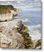 Coastline Viewed From Thornwick Bay Flamborough Metal Print