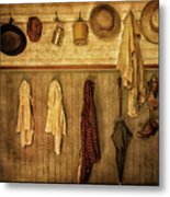 Coat Room At The Old Schoolhouse Metal Print