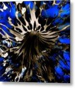 Cobalt Blue Wormhole Metal Print