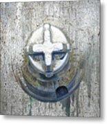 Cobalt Cat Metal Print