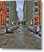 Cobblestone Brooklyn From Dumbo Metal Print