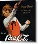 Coca-cola Ad, 1923 Metal Print by Granger