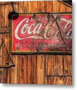 Coca Cola Barn Metal Print