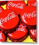 Coca Cola Caps Metal Print