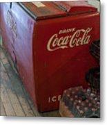 Coca-cola Chest Cooler General Store Metal Print