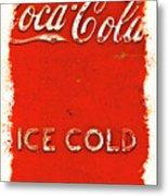 Coca-cola Cooler Metal Print