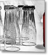 Coca-cola Glasses And Can - Selective Color By Kaye Menner Metal Print