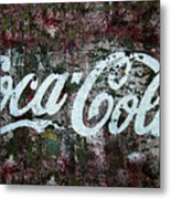 Coca Cola Wall Metal Print