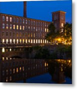 Cocheco Mills At Blue Hour Dover New Hampshire Metal Print