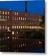 Cocheco Mills At Twilight Dover New Hampshire Metal Print