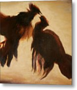 Cock Fight Metal Print