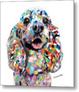 Cocker Spaniel Head Metal Print