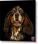 Cocker Spaniel Pop Art - 8249 - Bb Metal Print