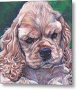 Cocker Spaniel Puppy Metal Print by Lee Ann Shepard