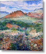 Cockscomb Butte Sedona Arizona Usa 2003  Metal Print