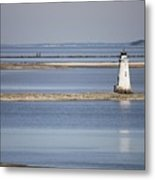 Cockspur Island Lighthouse With Jetty Metal Print
