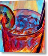 Cocktail Watercolor Metal Print
