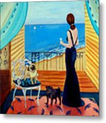 Cocktails For One - Pug Dog Metal Print by Lyn Cook