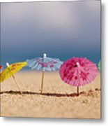 Cocktails In The Sand Metal Print