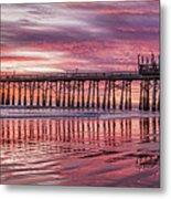 Cocoa Pier Sunrise Metal Print
