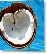 Coconut Heart Metal Print