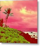 Coconut Palm Makai For Pele Metal Print
