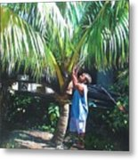 Coconut Shade Metal Print