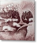 Coconut's Forest Metal Print