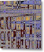 Code Abstract Metal Print