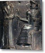 Code Of Hammurabi (detail) Metal Print