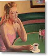Coffee And Contemplation Metal Print