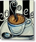 Coffee At The Cafe Metal Print