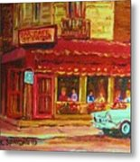 Coffee Bar On The Corner Metal Print