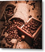 Coffee Bean Art Metal Print