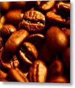 Coffee  Beans- Gold Metal Print