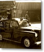 Coffee Cab Metal Print