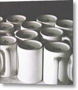 Coffee Cups- By Linda Woods Metal Print