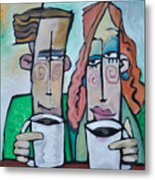Coffee Date Metal Print
