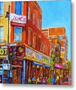 Coffee Depot Cafe And Terrace Metal Print