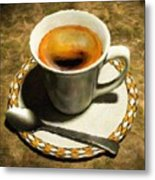 Coffee - Id 16217-152032-0430 Metal Print