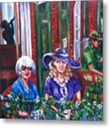 Coffee In Pirates' Alley Metal Print