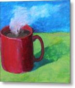 Coffee Landscape Metal Print