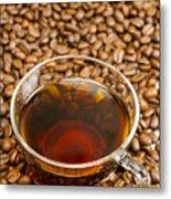 Coffee On Roasted Beans Metal Print