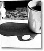 Coffee Poetry Metal Print