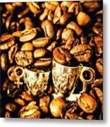 Coffee Shop Companions  Metal Print